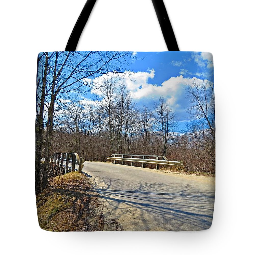 Bridge Tote Bag featuring the photograph Over The Brook by MTBobbins Photography