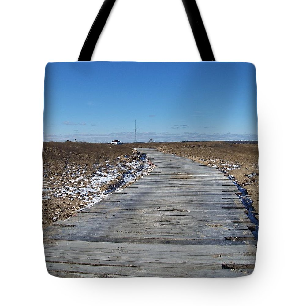 Beach Photograph Tote Bag featuring the photograph Over The Dunes by Eunice Miller
