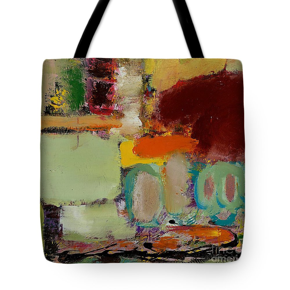Landscape Tote Bag featuring the painting Over There by Allan P Friedlander