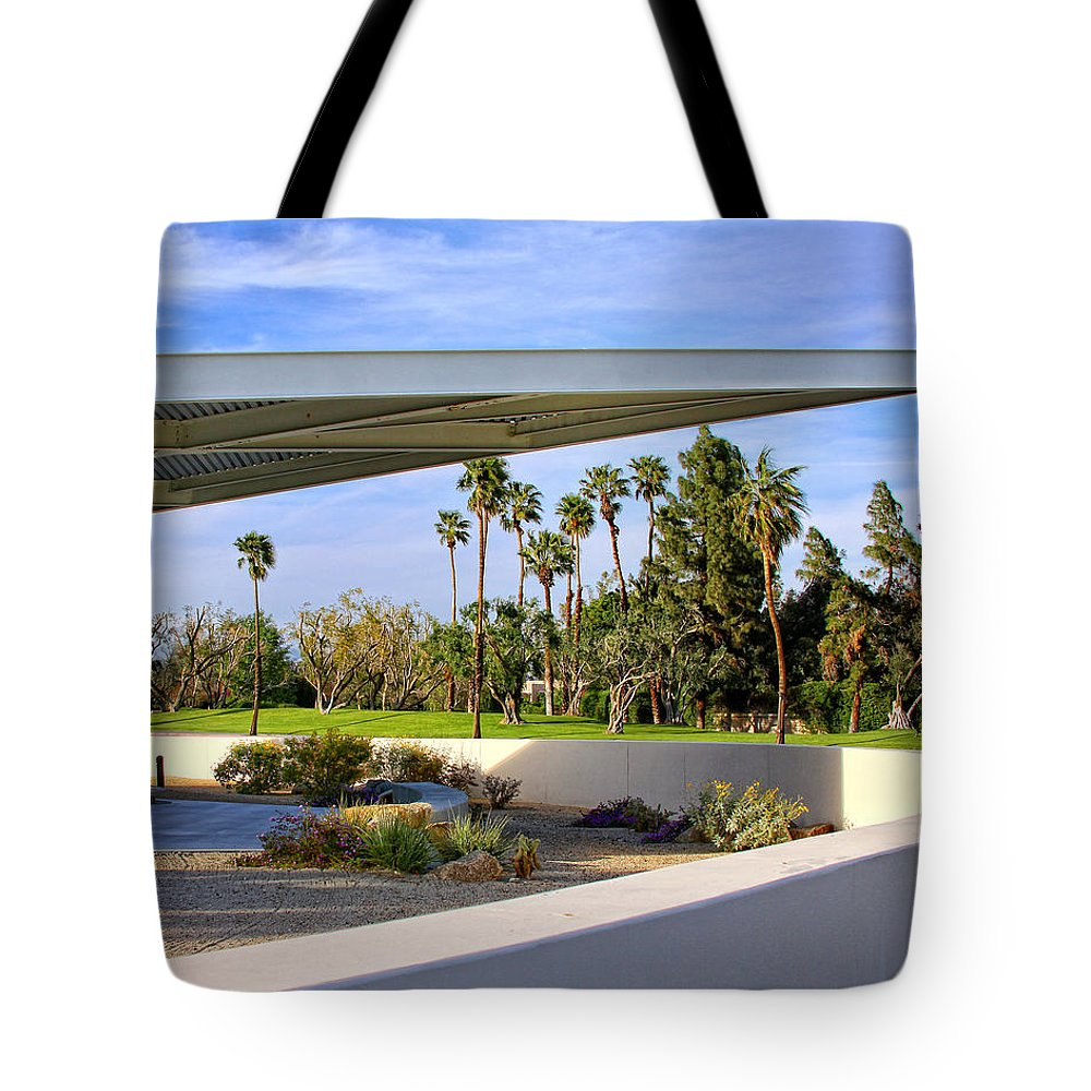 Palm Springs Tote Bag featuring the photograph OVERHANG Palm Springs Tram Station by William Dey