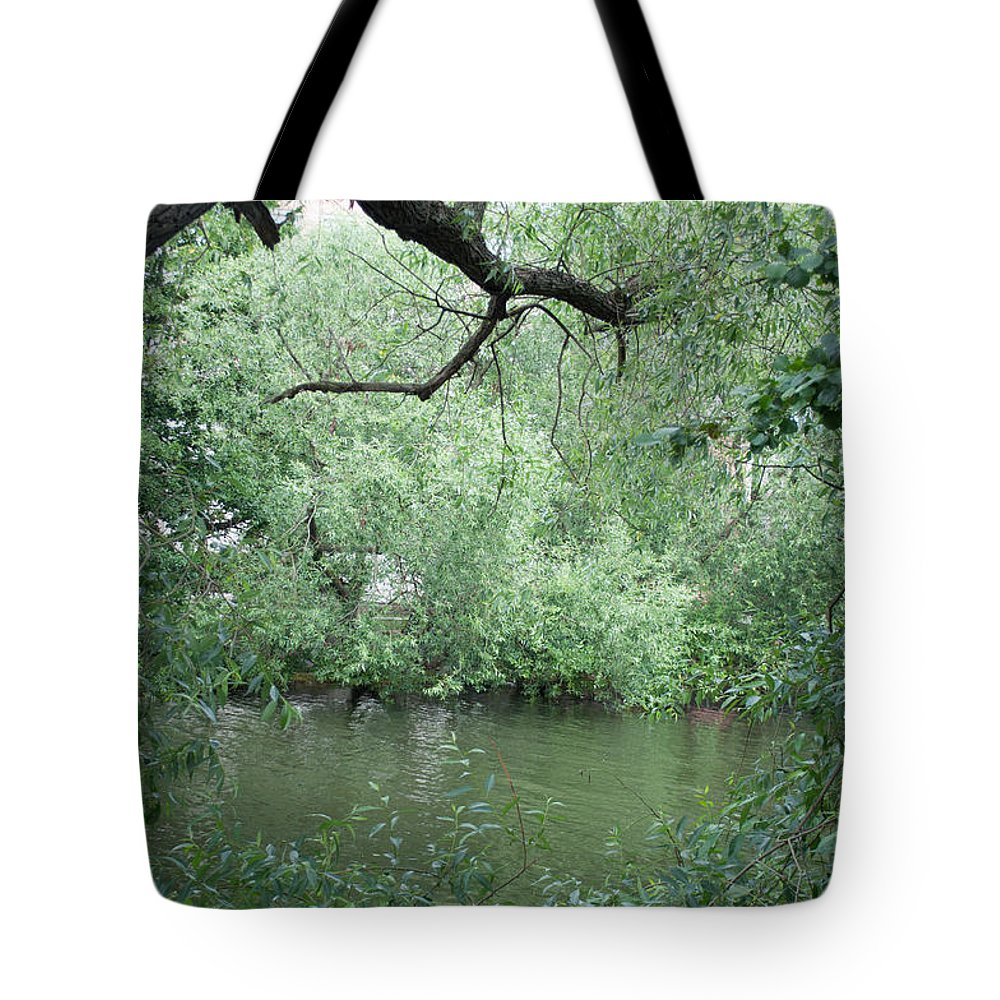 Close-up Tote Bag featuring the photograph Overhanging Tree by Jill Mitchell