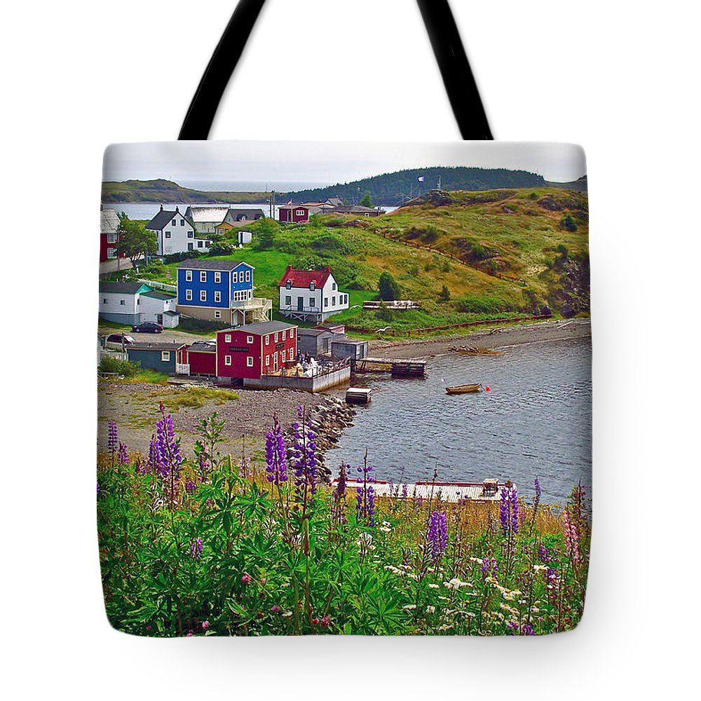 Overlooking Trinity Tote Bag featuring the photograph Overlooking Trinity-nl by Ruth Hager