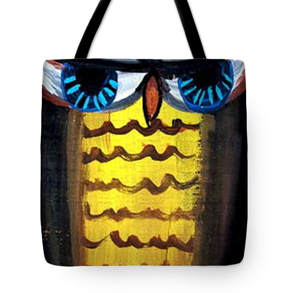 Owl Tote Bag featuring the painting Owl by Ashley Galloway