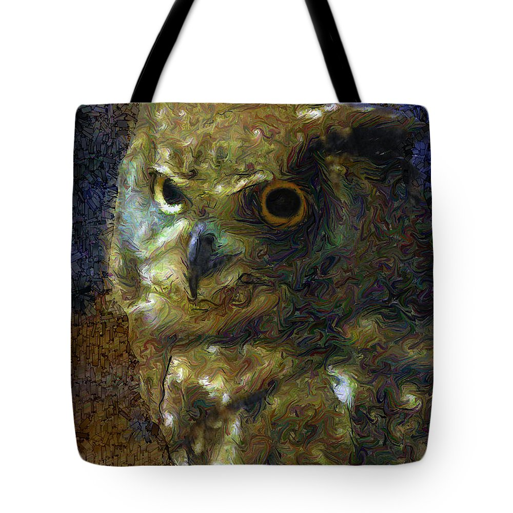 Owl Tote Bag featuring the photograph Owl by Dee Flouton