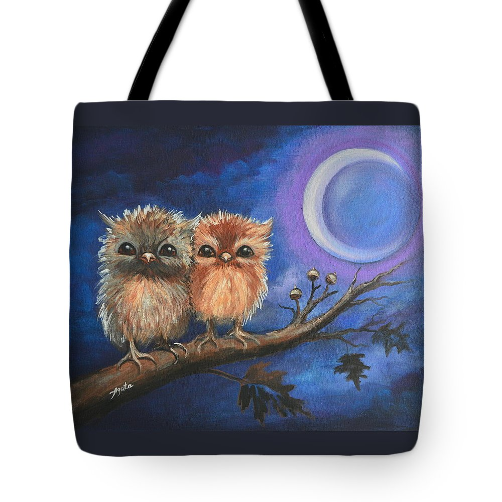 Owls Tote Bag featuring the painting Owl Be There For You by Agata Lindquist