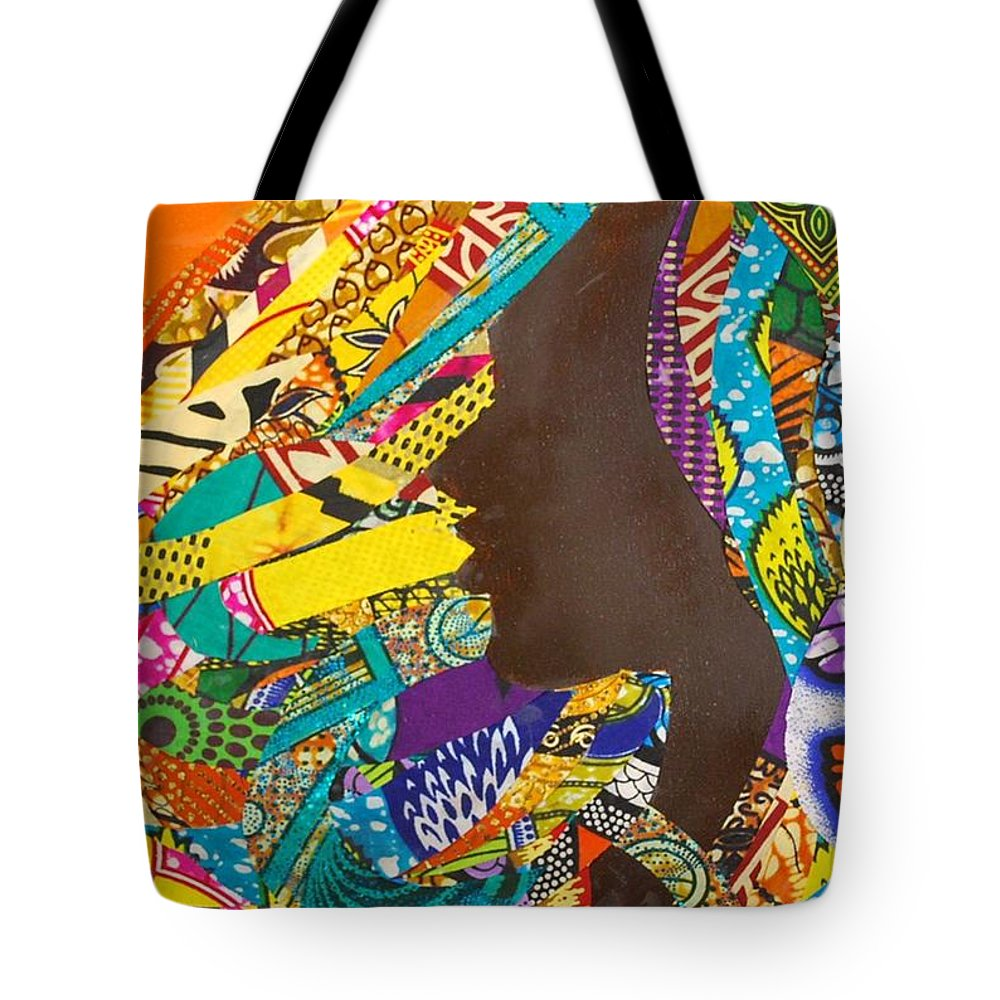Collage Tote Bag featuring the tapestry - textile Oya I by Apanaki Temitayo M