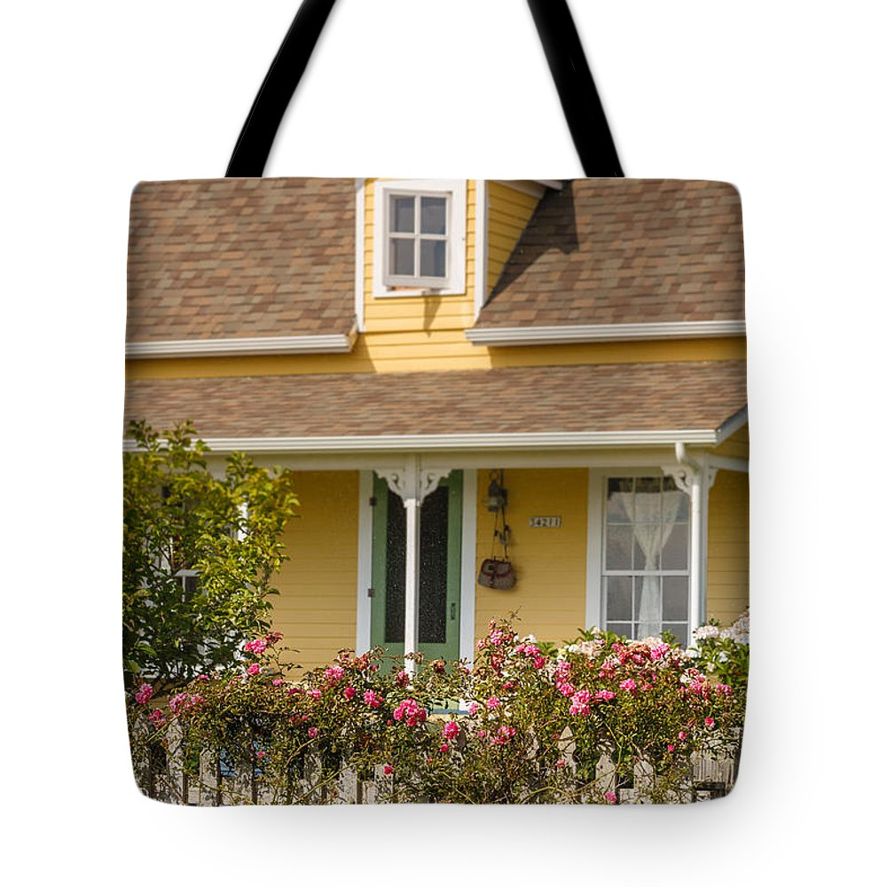 Oysterville Tote Bag featuring the photograph Oysterville Home 8 by Mike Penney