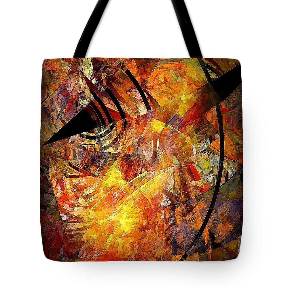 Graphic Tote Bag featuring the painting Ozyrys 692 - Marucii by Marek Lutek