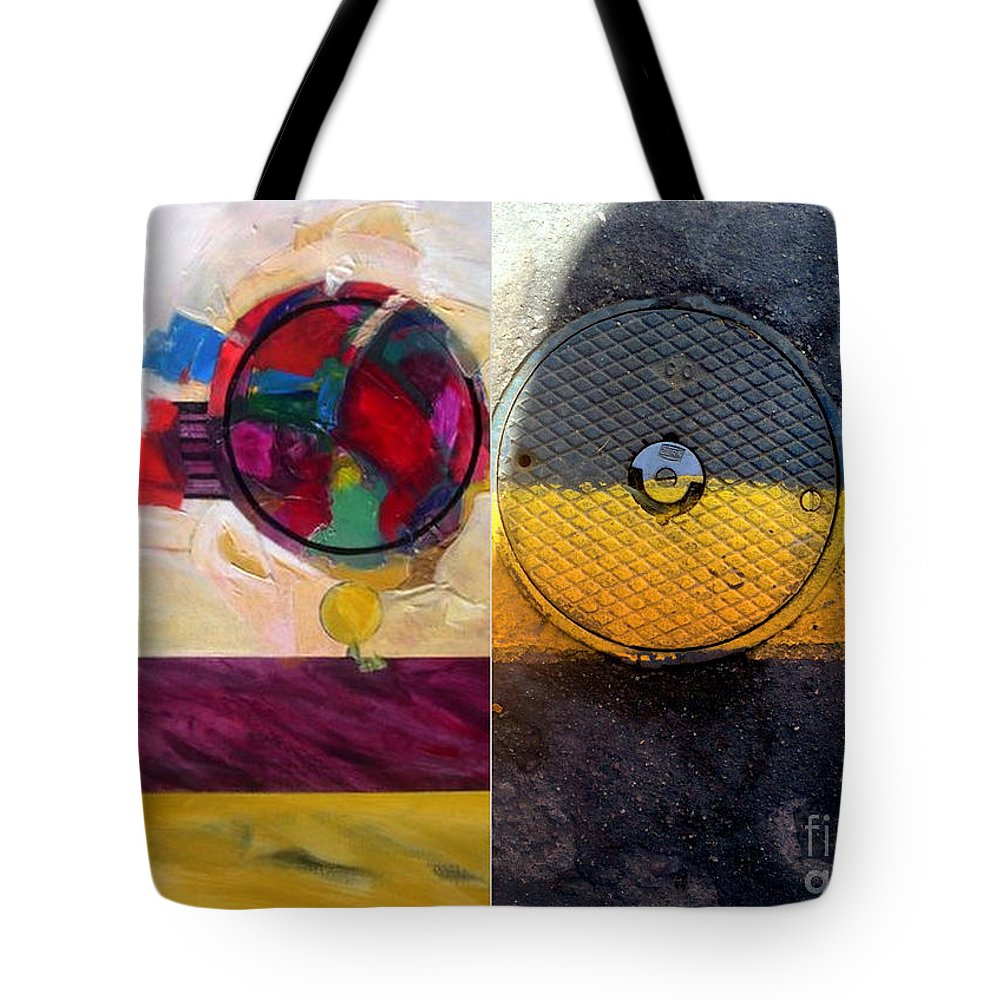 Abstract Photography Tote Bag featuring the painting p HOTography 112 by Marlene Burns
