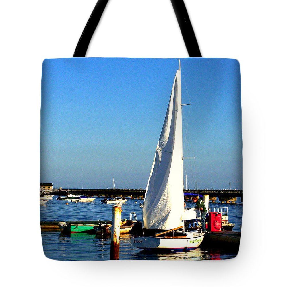 Provincetown Tote Bag featuring the photograph P-town by Marilyn Holkham