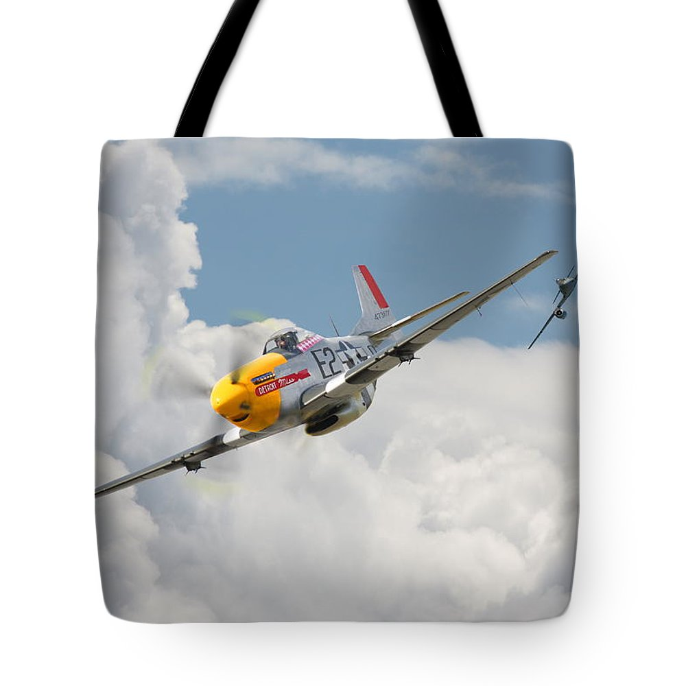 P51 Mustang And Me 262 Tote Bag