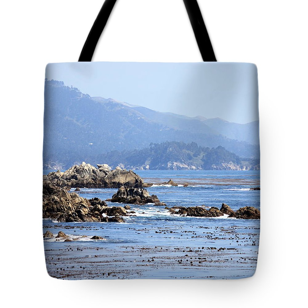 Ocean Tote Bag featuring the photograph Pacific Blues by Carol Groenen
