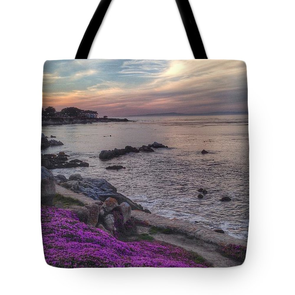 Coastal Tote Bag featuring the photograph Sunset In Pacific Grove by Charlene Mitchell