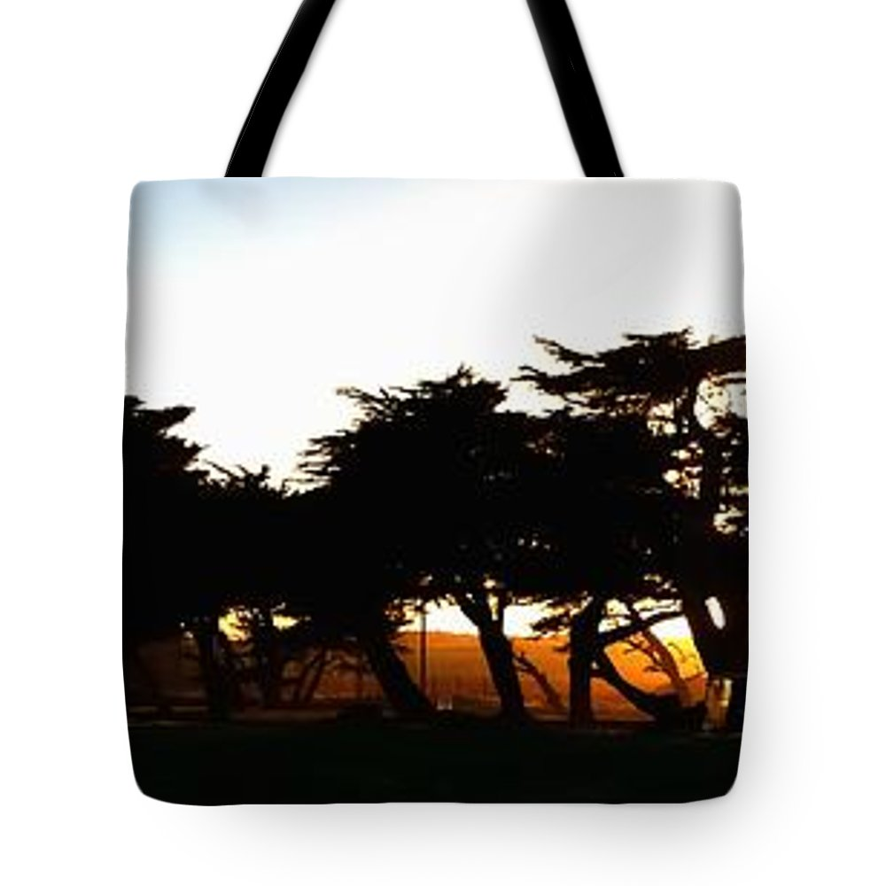 Monterey Tote Bag featuring the photograph Pacific Grove Golf Links 19902 by Jerry Sodorff