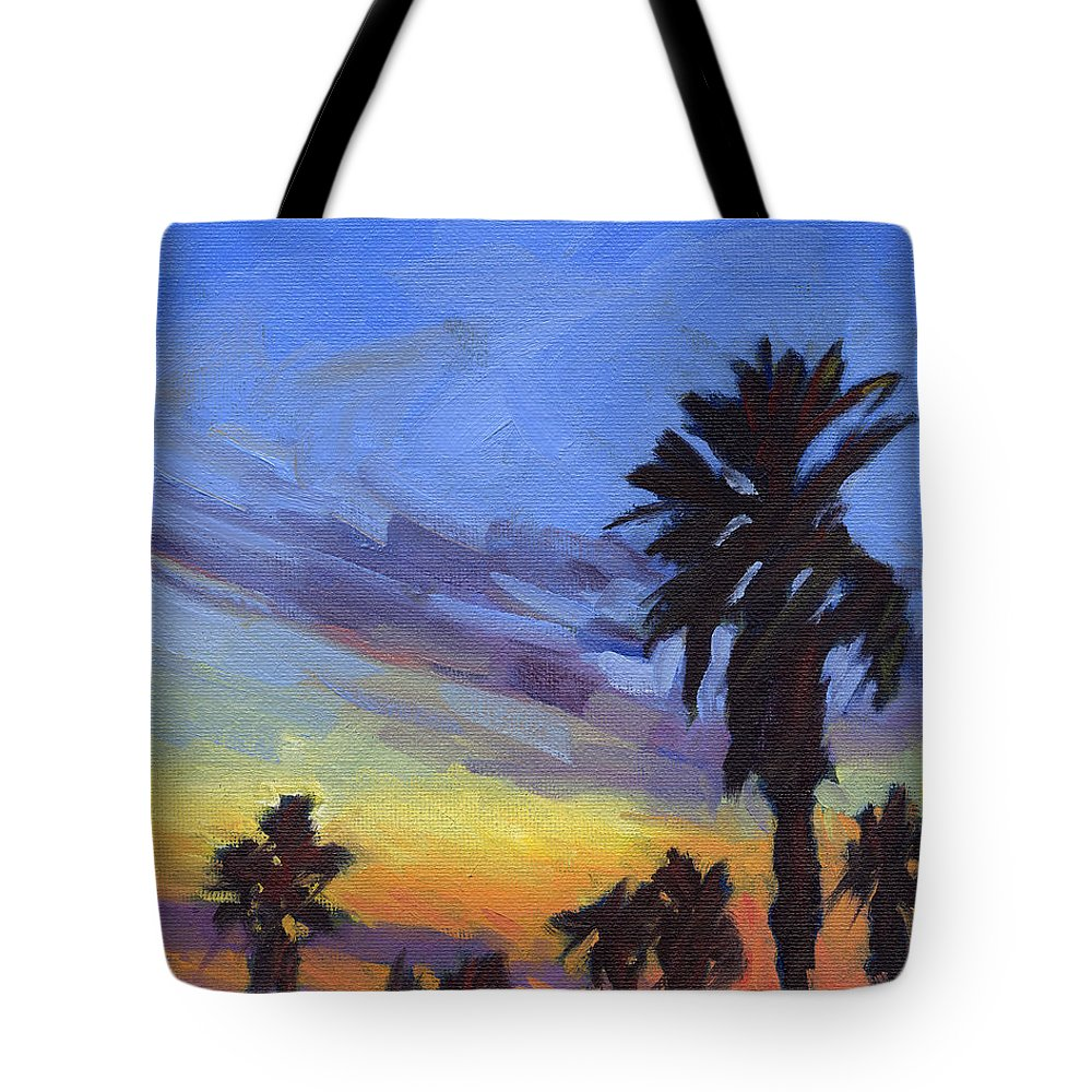 Sunset Tote Bag featuring the painting Pacific Sunset 2 by Konnie Kim