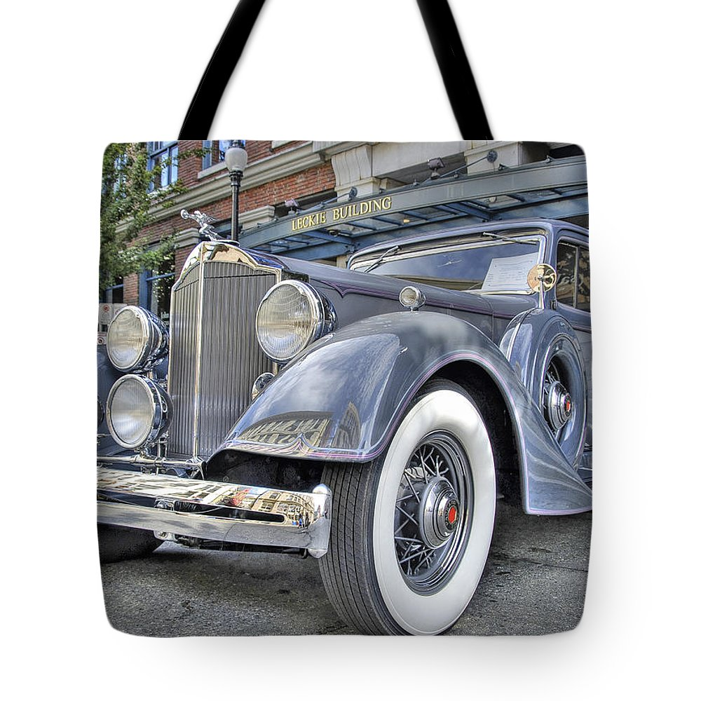 Antique Tote Bag featuring the photograph Packard by Doug Matthews