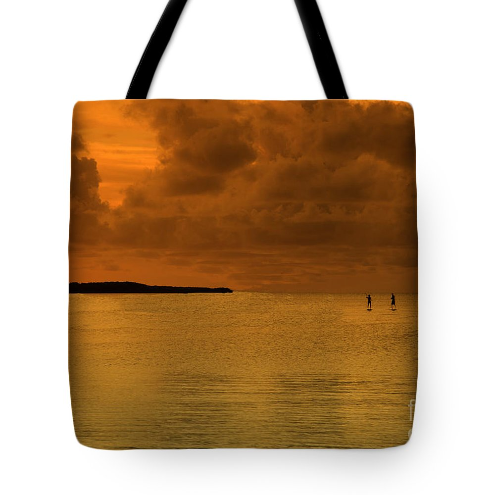 Florida Keys Tote Bag featuring the photograph Paddleboarding by Bruce Bain