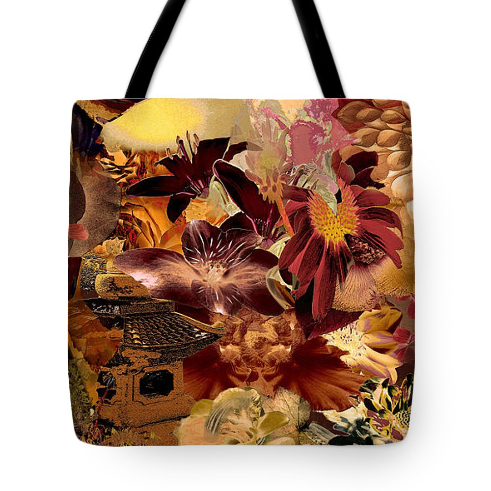 Pagoda Tote Bag featuring the digital art Pagoda by Paul Gentille
