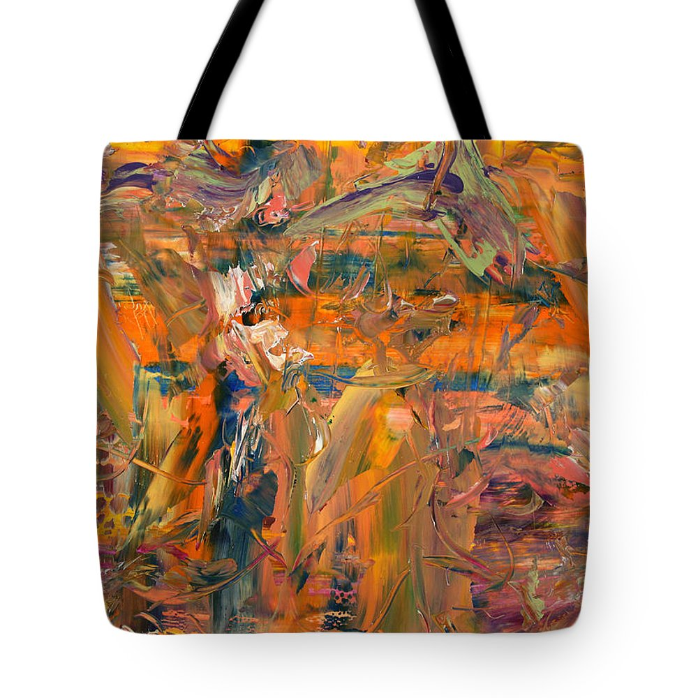 Abstract Tote Bag featuring the painting Paint Number 45 by James W Johnson