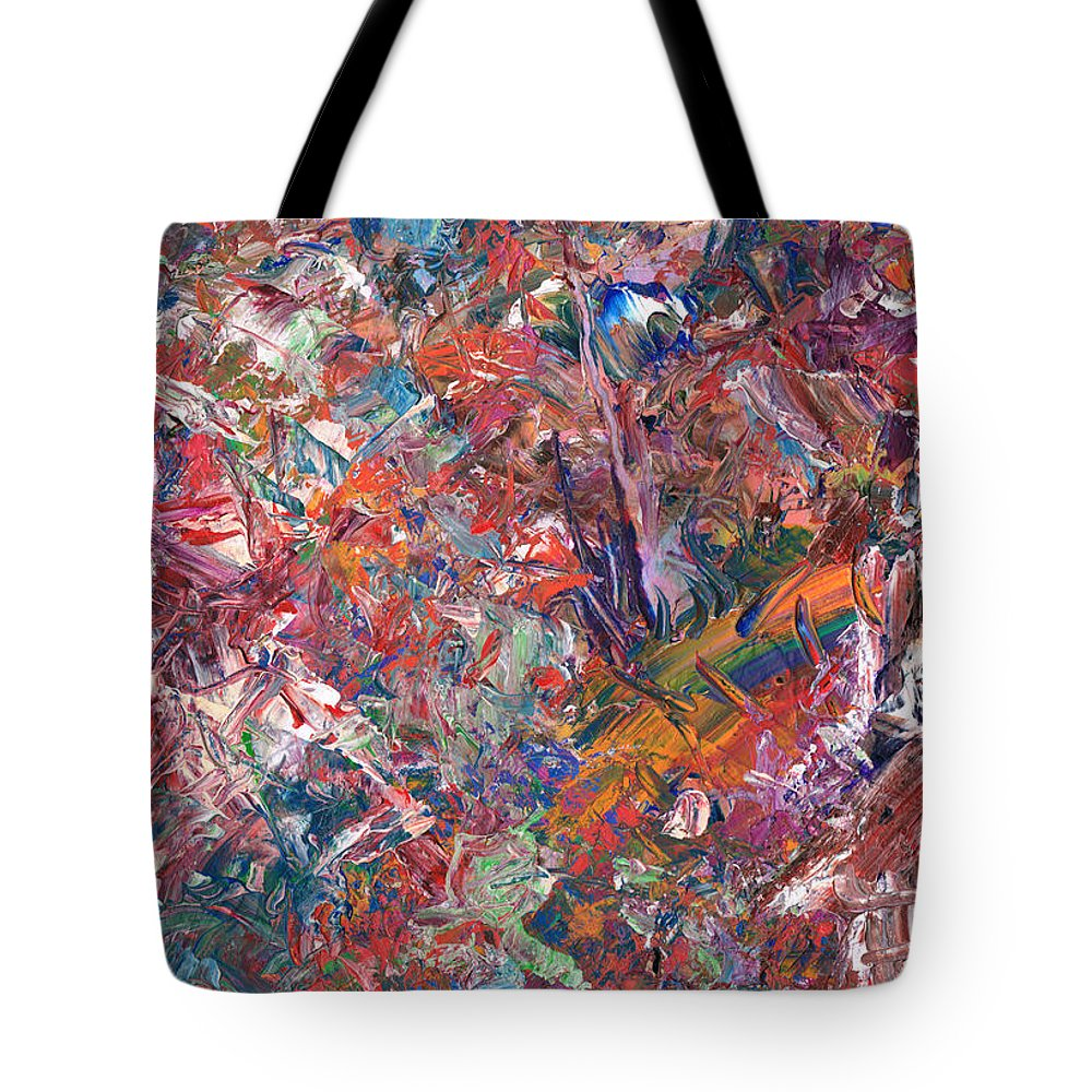Abstract Tote Bag featuring the painting Paint Number 50 by James W Johnson