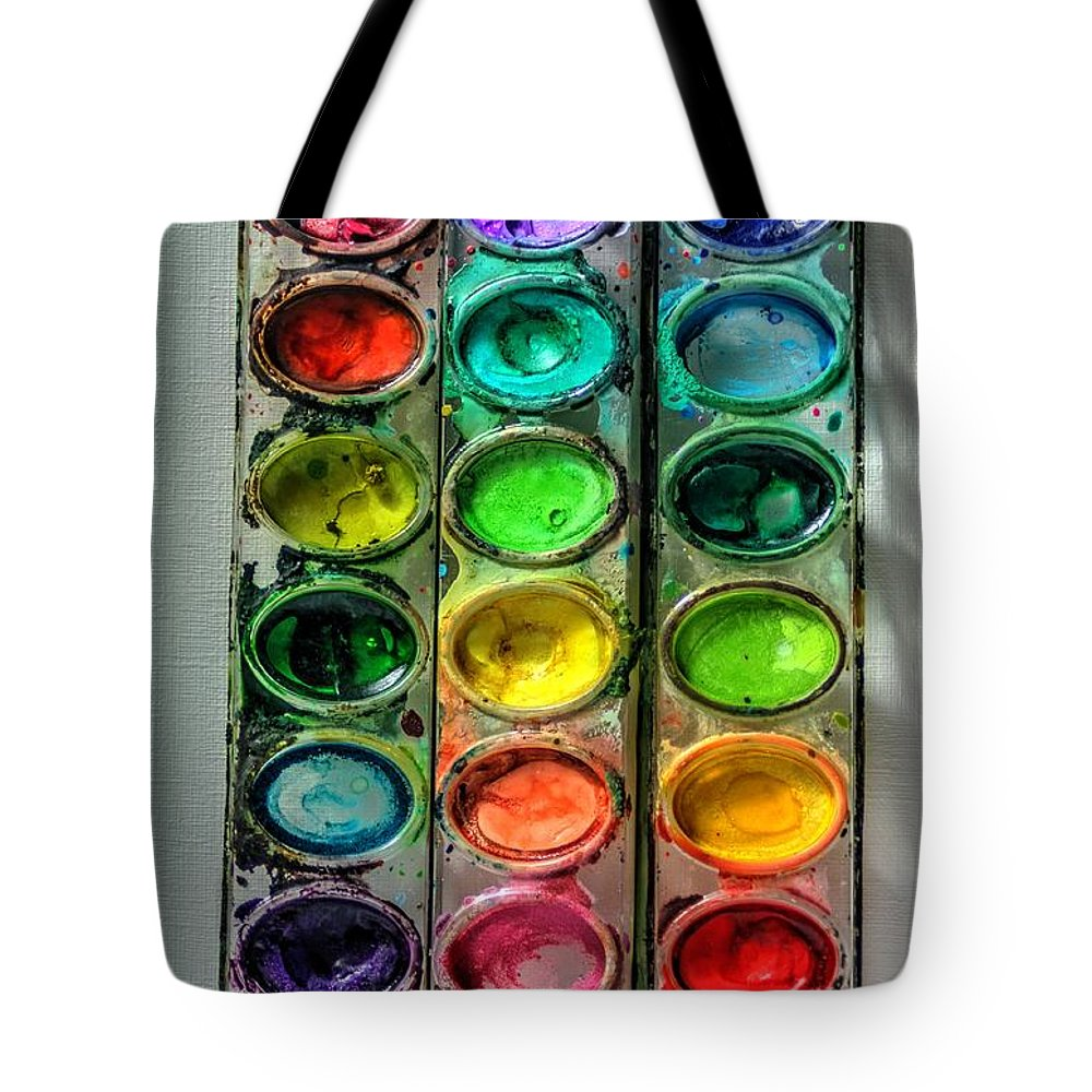 Paint Tote Bag featuring the photograph Paint Well Loved by J M Lister