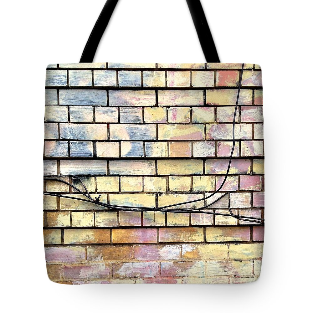 Painted Brick Tote Bag featuring the photograph Painted Brick by Julie Gebhardt