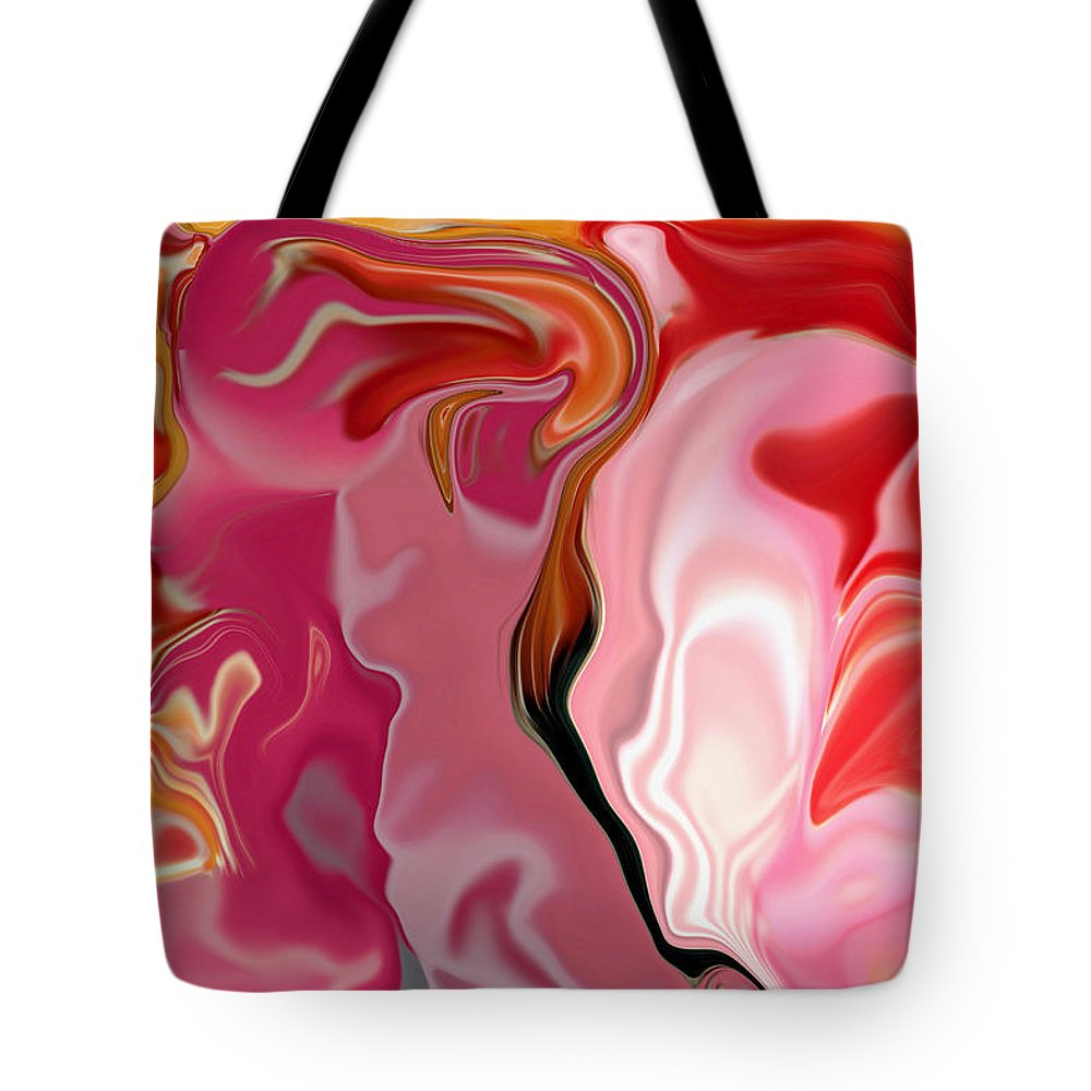 Face Art Tote Bag featuring the digital art Painted Face's by Linda Sannuti