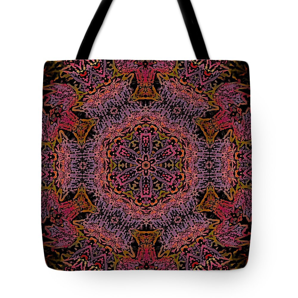 Kaleidoscope Tote Bag featuring the photograph Painted Lobster Kaleido by Kathy Clark