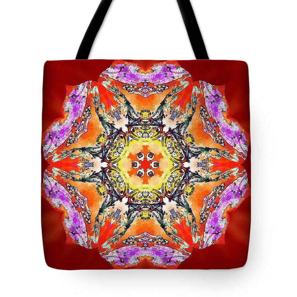 Sacredlife Mandalas Tote Bag featuring the painting Painted Lotus Xvii by Derek Gedney