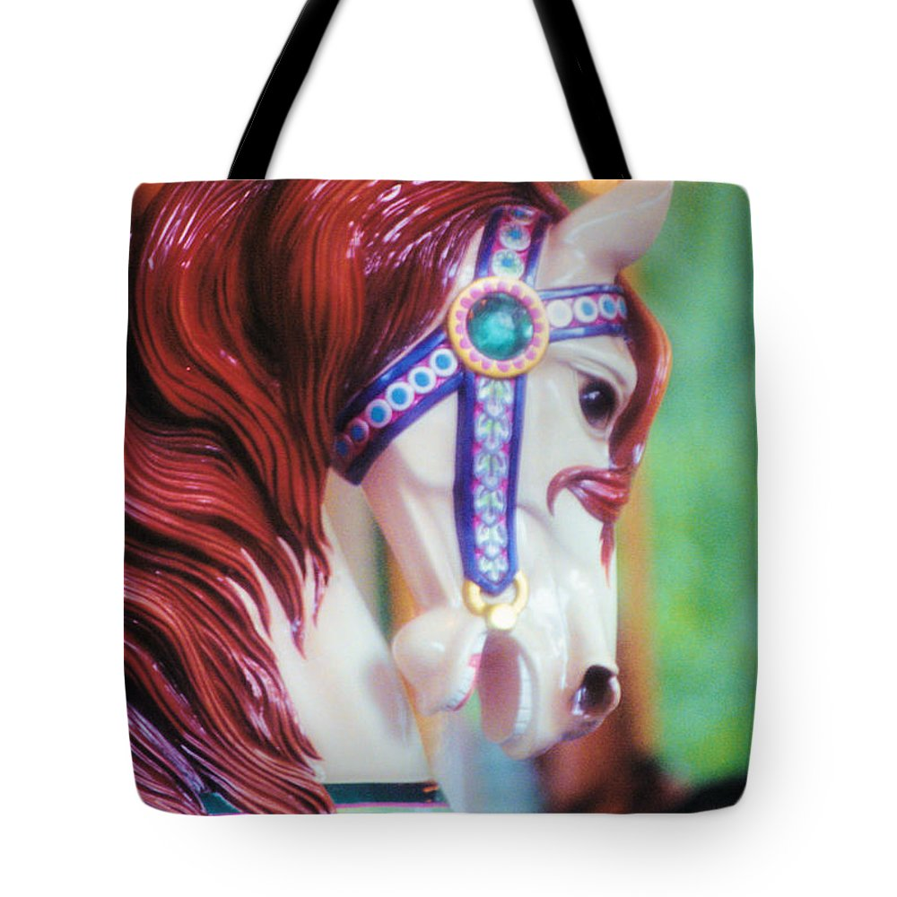 Still Life Tote Bag featuring the photograph Painted Pony by Jan Amiss Photography