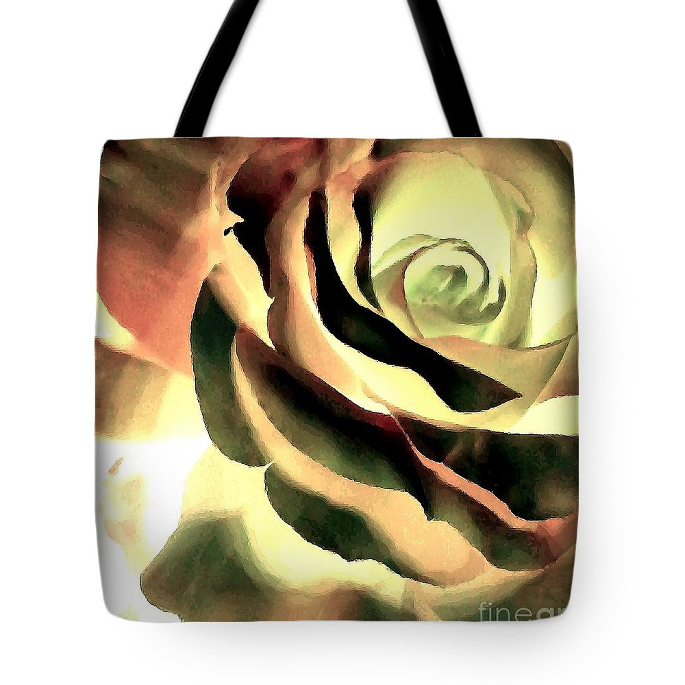 Rose Tote Bag featuring the photograph Painted Rose 1 by Tina Vaughn