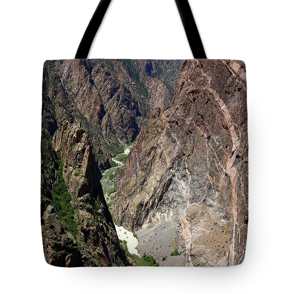 Black Canyon Of The Gunnison Tote Bag featuring the photograph Painted Wall Black Canyon Of The Gunnison by Christiane Schulze Art And Photography
