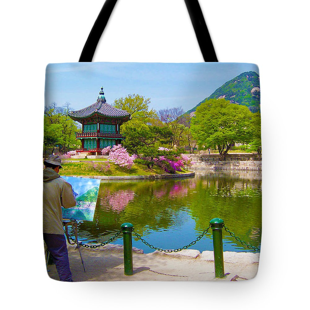 Painter Tote Bag featuring the photograph Painter by Mitch Cat