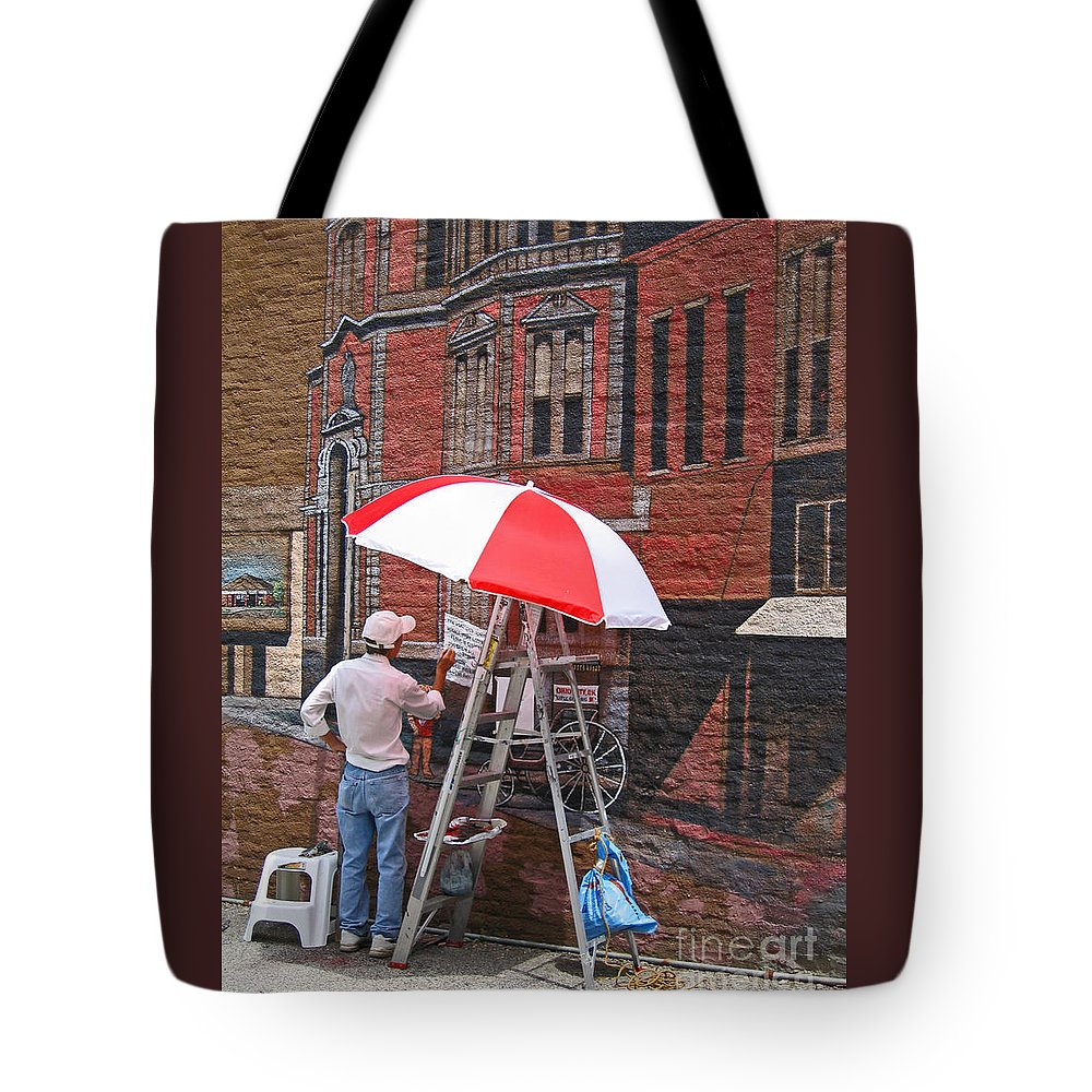 Artist Tote Bag featuring the photograph Painting The Past by Ann Horn