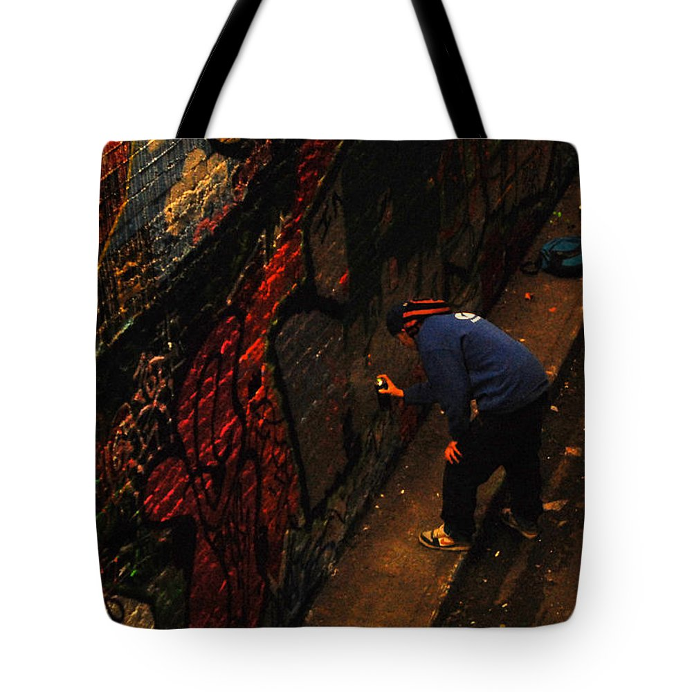 Painting Tote Bag featuring the photograph Painting Walls by Gina Dsgn