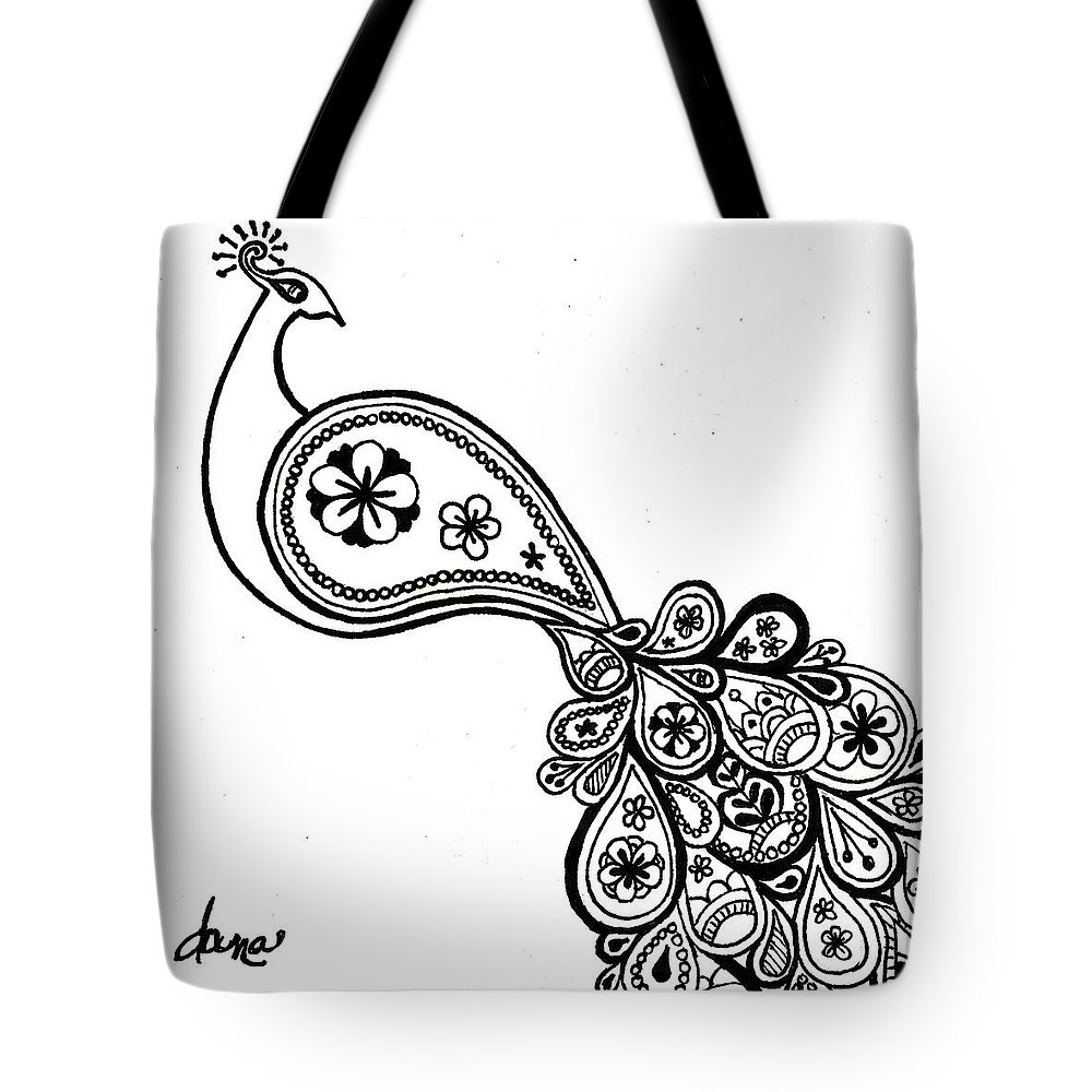 Peacock Tote Bag featuring the painting Paisley Peacock by Dana Strotheide