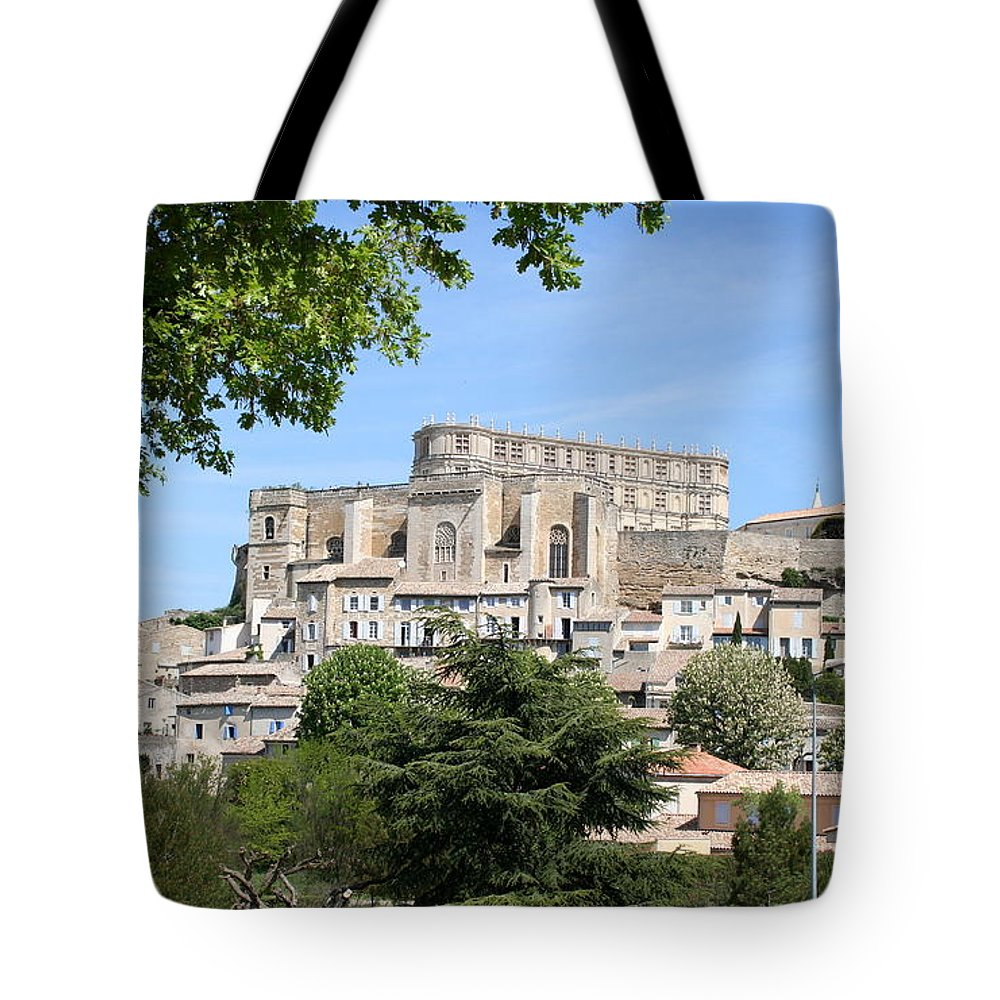 Palace Tote Bag featuring the photograph Palace Grignan by Christiane Schulze Art And Photography