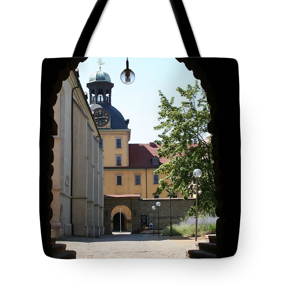 Palace Tote Bag featuring the photograph Palace Moritzburg - Zeitz by Christiane Schulze Art And Photography