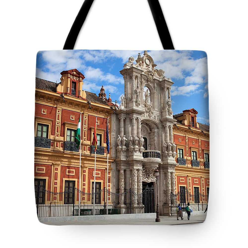 Seville Tote Bag featuring the photograph Palace Of San Telmo In Seville by Artur Bogacki