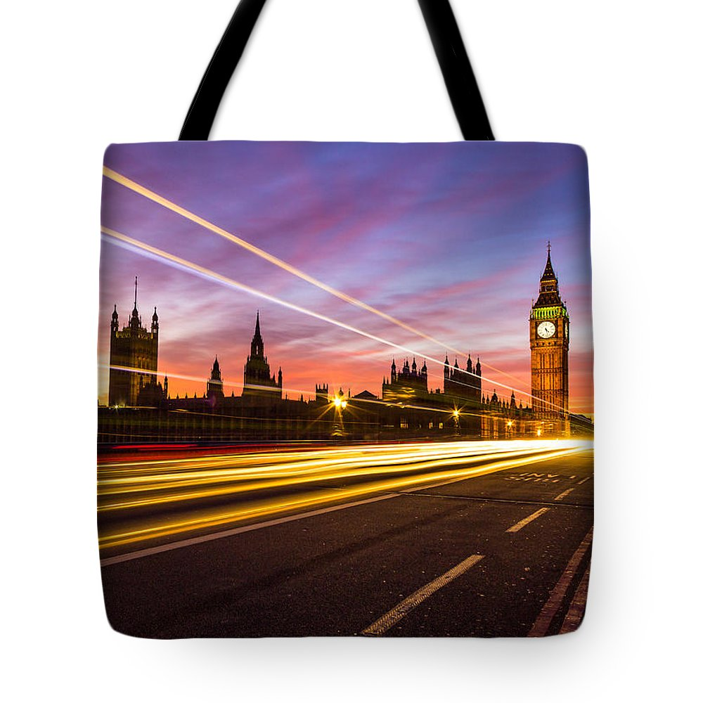 Houses Of Parliament Tote Bag featuring the photograph Palace Of Westminster by Travel and Destinations - By Mike Clegg