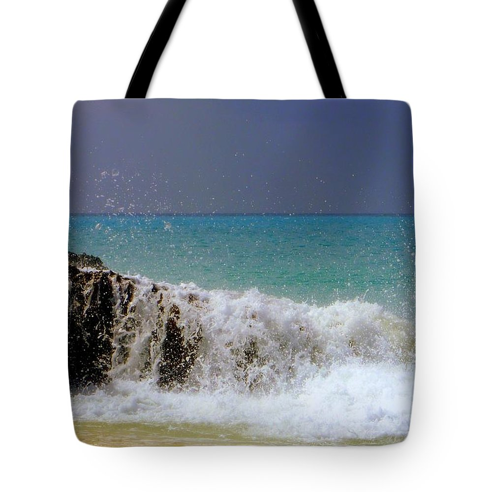 Waterscapes Tote Bag featuring the photograph Palette Of God by Karen Wiles