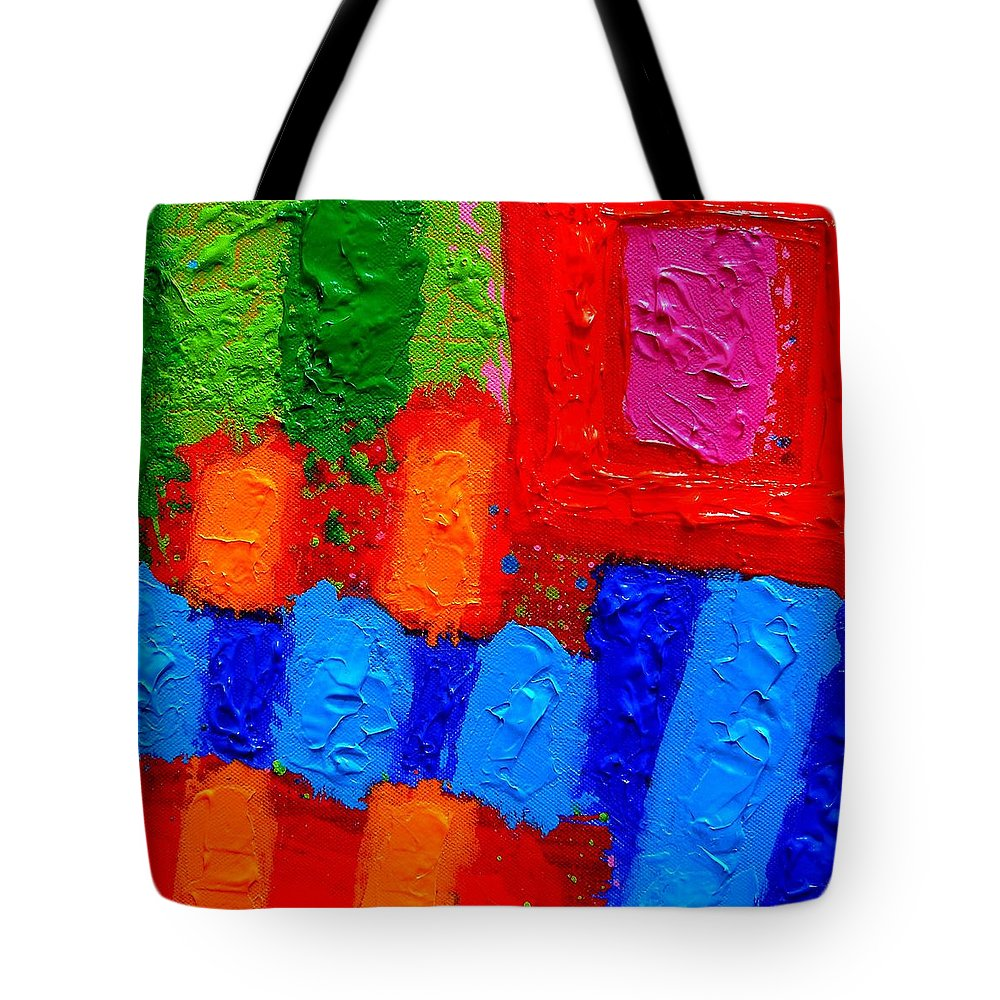 Abstract Tote Bag featuring the painting Palimpsest Xiv by John Nolan
