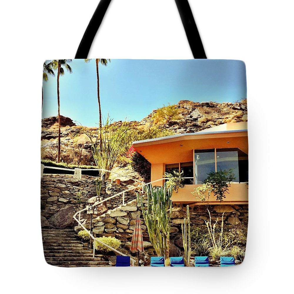Pool Tote Bag featuring the photograph Palm Springs Pool by Julie Gebhardt