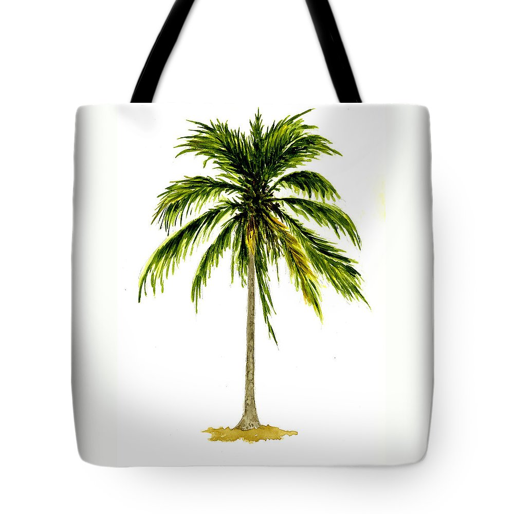 Palm Tree Tote Bag featuring the painting Palm Tree Number 2 by Michael Vigliotti