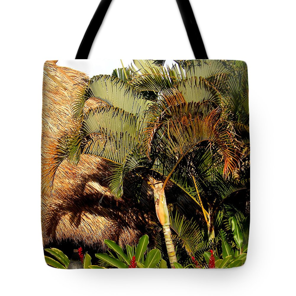 Palm Trees Tote Bag featuring the photograph Palm Trees At Sunset by Fred Wilson