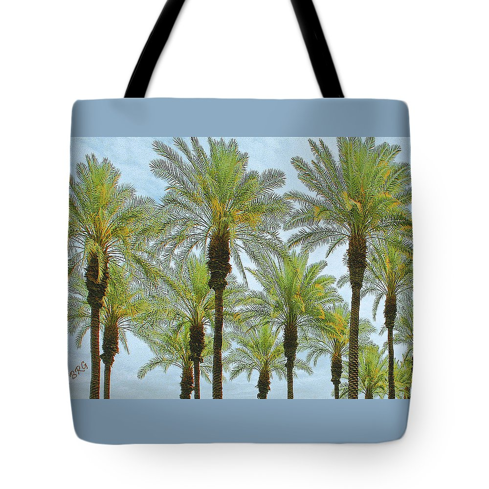Palm Treetop Tote Bag featuring the photograph Palms by Ben and Raisa Gertsberg