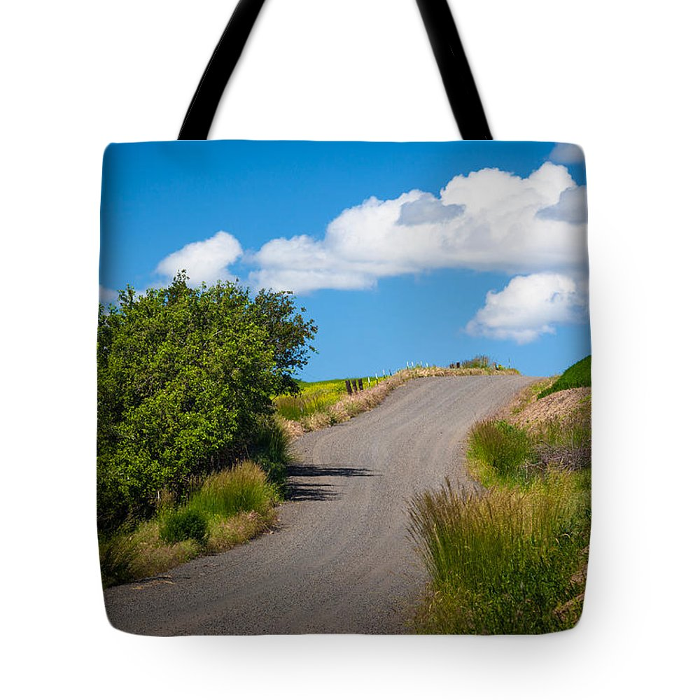 America Tote Bag featuring the photograph Palouse Country Road by Inge Johnsson