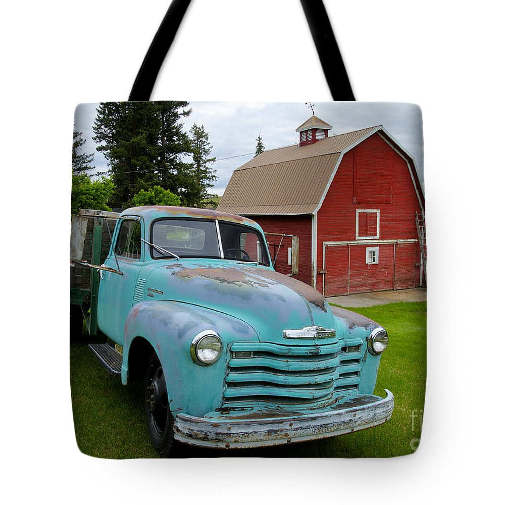 Chevrolet Tote Bag featuring the photograph Palouse Truck by Idaho Scenic Images Linda Lantzy