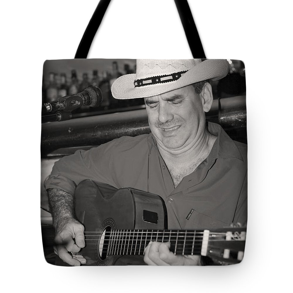 Music Tote Bag featuring the photograph Panama City Blues by James Brunker