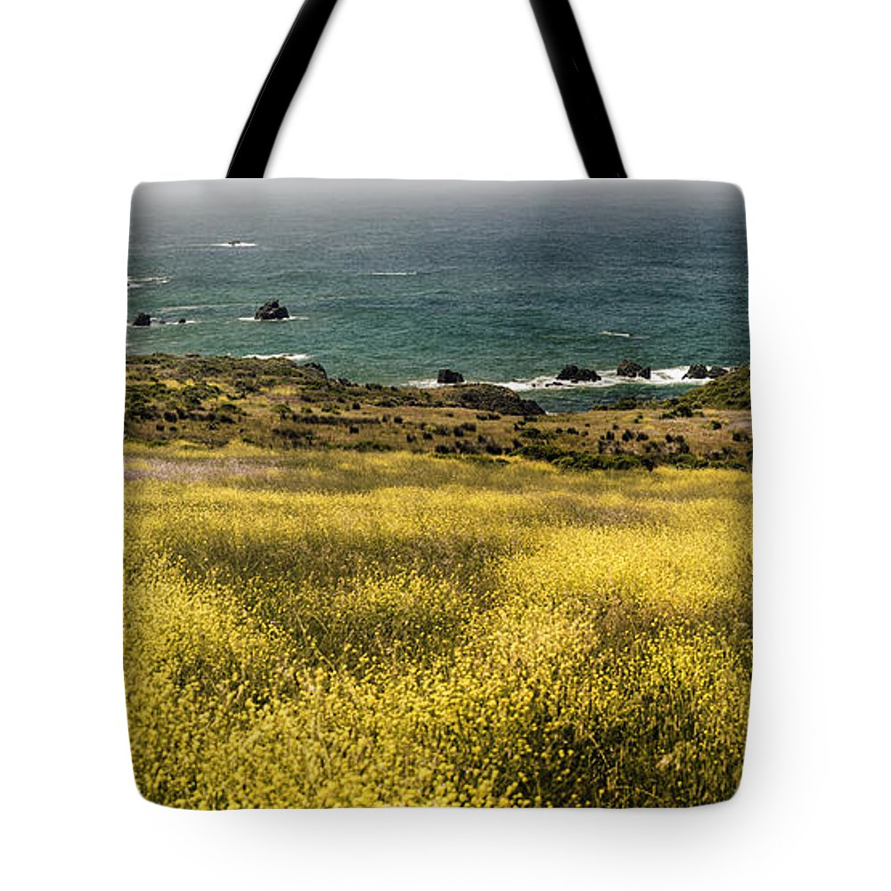 Art Tote Bag featuring the photograph Panarama Spring On Califronia Coast By Denise Dube by Denise Dube